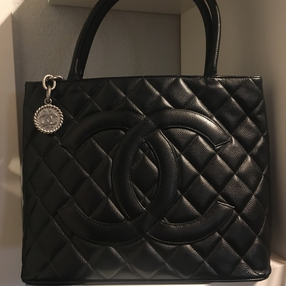 13fdd99dae2f CHANEL Bags | Medallion Tote Black Pebbled Leather | Poshmark